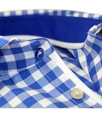 sleeve7 overhemd blauwe ruit