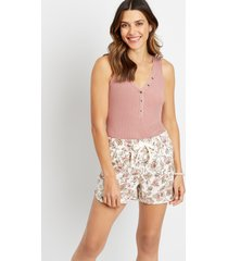 maurices womens white floral 3.5in weekender shorts