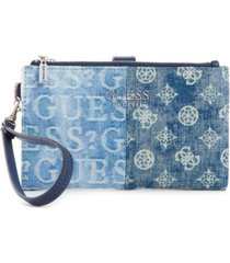 guess kaylyn double zip organizer wallet