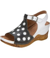 sandaletter gemini vit::svart