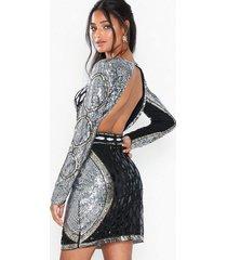 nly eve embellished mini dress paljettklänningar