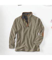 simoom tweed quarter-zip sweatshirt, olive, 2xl