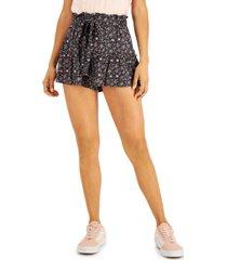 vanilla star juniors' printed drawstring-waist shorts