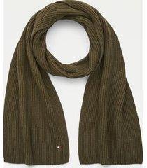 tommy hilfiger cotton scarf olivewood -