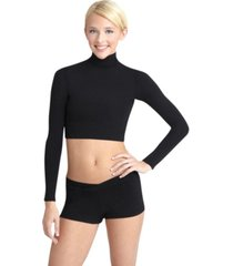 capezio turtleneck long sleeve top