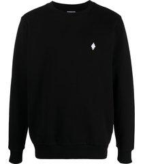 marcelo burlon county of milan cross logo sweatshirt - black