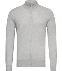 bs continental stickad tröja cardigan grå bruun & stengade