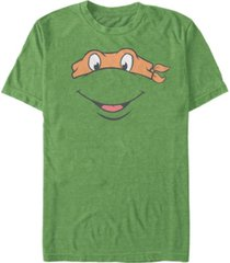 nickelodeon teenage mutant ninja turtles michael angelo big face short sleeve t-shirt