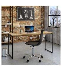 mesa de escritório studio carvalho 150 cm