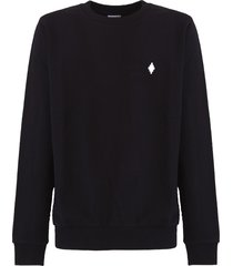 marcelo burlon county of milan cross logo sweatshirt