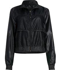 koral women's rain zephyr jacket - black - size m