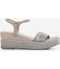 sandalia casual mujer unisa shoes sd35 gris