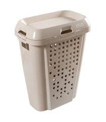 cesto de roupas astra rb7 45 litros com tampa argila