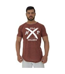 camiseta longline alto conceito style mxd exclusive nuno marrom