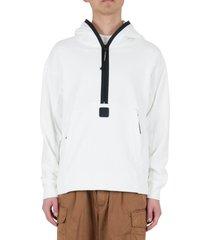 c.p. company diagonal raised fleece pullover hoodie