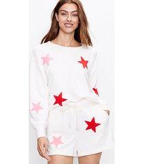loft lou & grey star cozy cotton terry sweatshirt