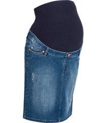 gonna di jeans prémaman ultra elasticizzata (blu) - bpc bonprix collection