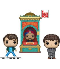 "funko pop movies big the movie collectors set - josh baskin with piano, josh baskin with oversized suit, zoltar 6"" super sized pop"