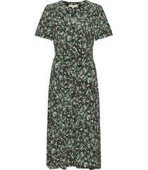 nina midi dress knälång klänning grön soft rebels