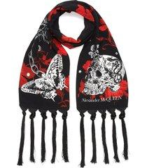 tattoo skull print scarf