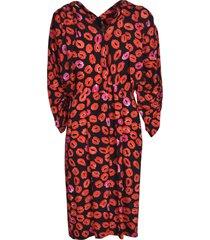 marni all-over lip print dress