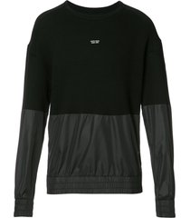 mostly heard rarely seen paneled sweatshirt - black