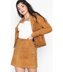 noisy may nmella nw leather skirt 2p minikjolar