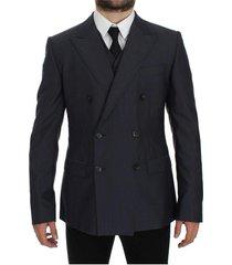 fit wool silk blazer