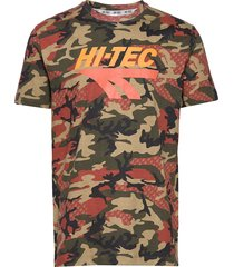 ht overby t-shirts short-sleeved multi/mönstrad hi-tec