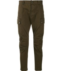 dsquared2 low-rise side pocket trousers - green