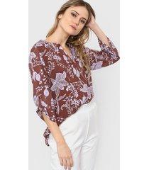 blusa marrón new liza