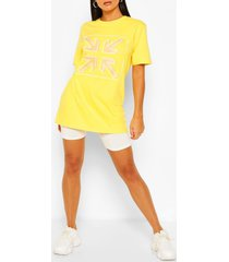 arrow print t-shirt, lemon