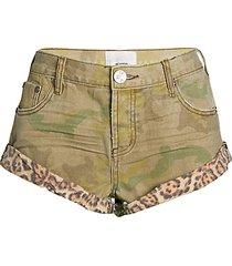 bandits camo & leopard-print shorts