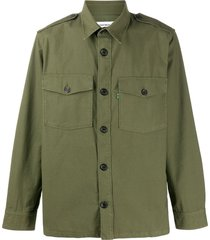department 5 military-style shirt - green
