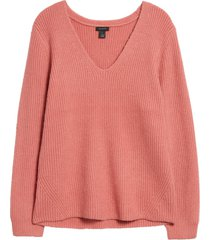women's halogen balloon sleeve sweater, size xx-large - pink