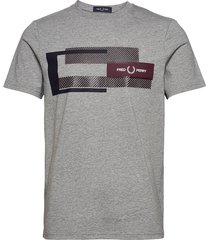 mixed graphic tee t-shirts short-sleeved grå fred perry