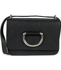 d-ring pebbled leather crossbody bag