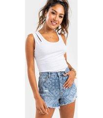 heather paisley print shorts - navy