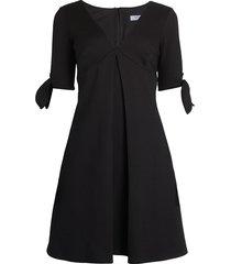 bailey 44 women's qb tie-cuff flare dress - black - size xs