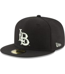 new era long beach state 49ers core black white 59fifty fitted cap