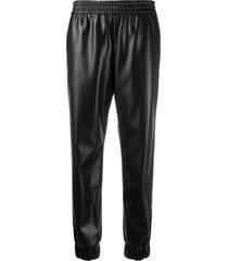 alice+olivia pete elastic-waist trousers - black