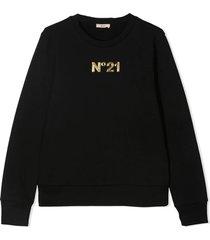 n.21 logo patch sweatshirt