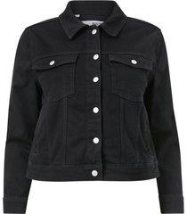 jeansjacka slftenna ls black denim jacket curve