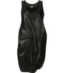 junya watanabe comme des garçons pre-owned two-layer leather dress -