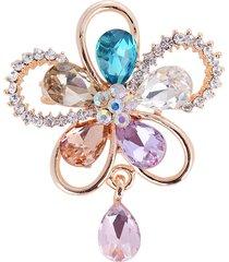 elegante fiore di cristallo spille colorati gioielli sciarpa accessori per lei