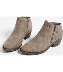 maurices womens abigail side zipper ankle bootie gray