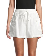 lucca women's daffodil a-line shorts - white - size xs