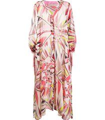 emilio pucci bes print beach dress - multicolour