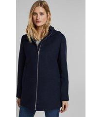 chaqueta mujer con capucha azul marino esprit