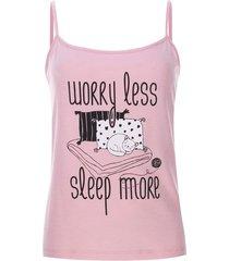 top sleep more color rosado, talla xs